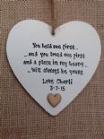 Shabby Personalised Chic Heart.. Father Of The Bride .. Any Name .. Dad Wedding.